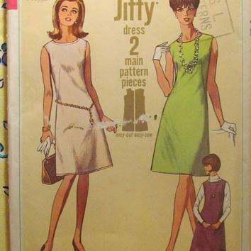 SALE Uncut 1960's Simplicity Sewing Pattern, 6541! Size 12 Small/Women's/Misses/Easy Jiffy Retro Dress/Sleeveless Dress/Jackie Kennedy Style
