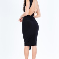 Victoria Ruffle Chain Back Dress