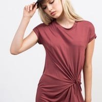 Knotted Tee Dress