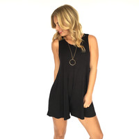 Lift Me Up Romper In Black