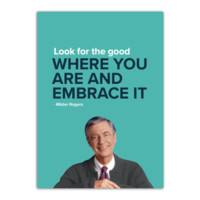 Mister Rogers Look for the Good Where You Are Magnet