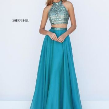 Sherri Hill Two Piece Beaded Dress 50096