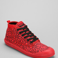 Volley High-Top Print Leap Sneaker  - Urban Outfitters