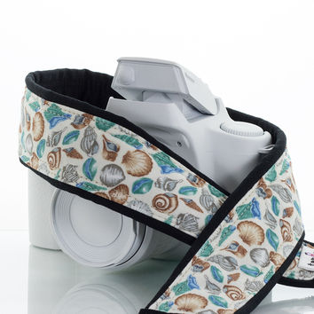 094 Camera Strap Seashells, dSLR, SLR or Mirrorless