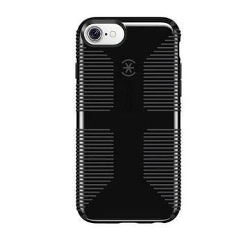 ESBON2D Speck Products CandyShell Grip Cell Phone Case for iPhone 8/7/6S/6 - Black/Slate Grey