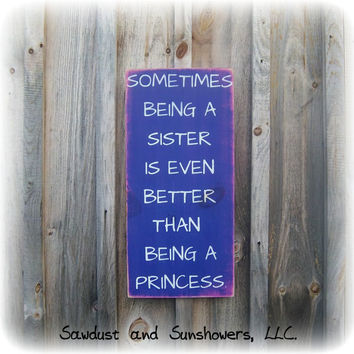 Princess Sign, Typography Sign, Wooden Sign, Gifts Under 50, Girls Room, Gift For Girl, Sister Sign, Gift For Sister,Wood Word Sign,In Stock