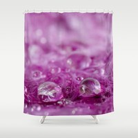 Drops in feathers Shower Curtain by vanessagf