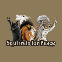 Earth Sun Moon Unisex Squirrels For Peace T-Shirt