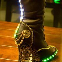 steampunk/Victorian Knee high Boots by HotAirBallonRide on Etsy