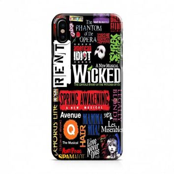 Broadway Musical Collage iPhone X Case