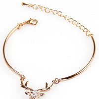 Oh Dear Me Bracelet: Rose Gold [EBR928] - $11.99 : Spotted Moth, Chic and sweet clothing and accessories for women