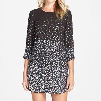 Women's Parker Black 'Petra' Sequin Cocktail Dress,