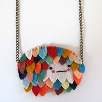 Feathered Necklace by catrabbitplush on Etsy
