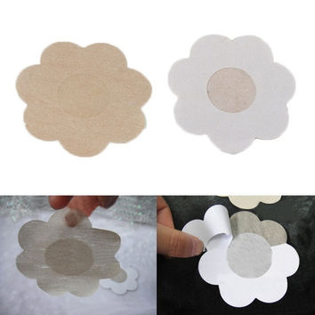 5 Pairs Flower Adhesive Nipple Covers Pads Body Breasts Stickers Disposable Milk Paste Anti Emptied The Chest Paste = 1705946372