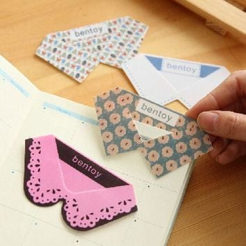 VONC1Y New Cute Kawaii PVC Collar Bookmarks Novelty Products Items Creative Gift Korean Stationery Free shipping 10004