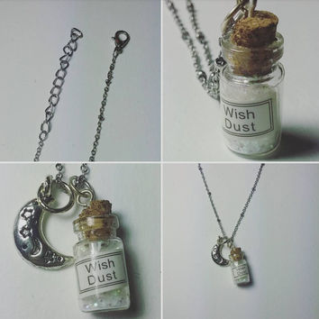 Wish Dust and Moon Chain Necklace