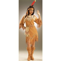 Native American Maiden Costume, Adult Standard, FITS UP TO 14/16