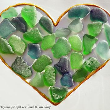 Green sea glass from the Black Sea Set of real sea glass for creations Craft supplies for crafts Homemade handcrafted handmade jewelry SGL20