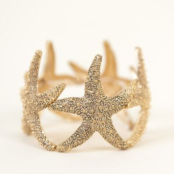 Under the Sea Starfish Bracelet in Gold from P.S. I Love You More Boutique