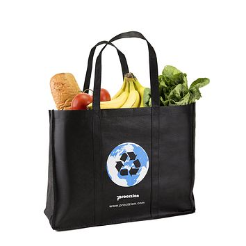 Reusable Grocery Tote Shopping Heavy Duty Bag with Reinforced Handles (Set of 3)