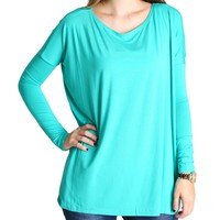 Light Green Piko Long Sleeve Top