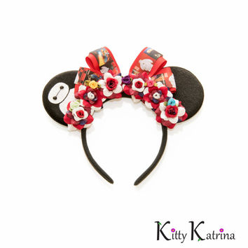 Baymax Disney Ears Headband, Mouse Ears, Big Hero 6 Ears, Disney Headband, Big Hero 6 Costume, Big Hero 6 Cosplay, Disney Bound, Disneyland