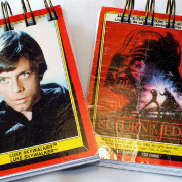 Star Wars Collecting Cards Notebook 1983 Mini Notebook / Scratch Pad