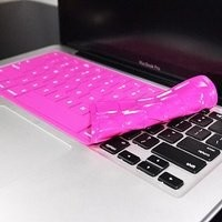 "TopCase® Solid HOT PINK Keyboard Silicone Cover Skin for Macbook 13"" Unibody / Macbook Pro 13"" 15"" 17"" with or without Retina Display + TOPCASE® Logo Mouse Pad"