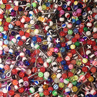 Tongue Ring 20 Assorted Steel Barbell Tongue Rings 14 Gauge