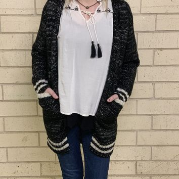 a8a9ccbaee2ce4 College Heavy Knit Cardigan
