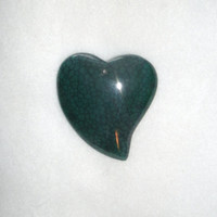 Teal Dragon Vein Heart Pendant Bead - OOAK  rocks, designer bead, pendant beads, agate pendant, drilled and polished, Diy jewelry supply