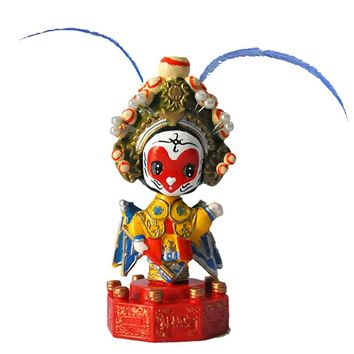 Peking Opera Make-ups Doll Car Dashboard Toys Auto Decoration Ornament Cute Shaking Head Masks Of Peking Opera Figure Home Decor