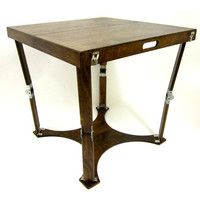 Spiderlegs CD3030-DW Hand Crafted & Custom Finished Dining Folding Table in Dark Walnut