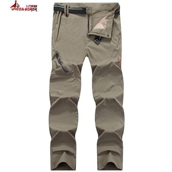 UNCO&BOROR Plus size 6XL,7XL,8XL Summer Spring Men Pants Quick Dry Breathing waterproof Trousers Military Pants Casual Army Male