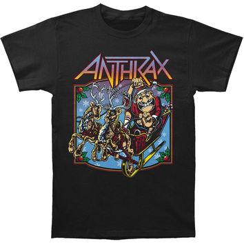 Anthrax Men's  Not Man Christmas Is Coming T-shirt Black