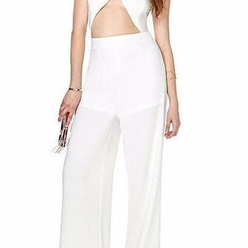 Criss Cross Cutout Jumpsuit