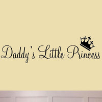 Daddy's Little Princess Nursery Wall Decals Cute Baby Quote Vinyl Wall Art Qu...