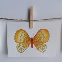 Butterfly Card , Watercolor Cards, Watercolor Painting, Card set, Hand Painted