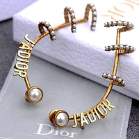 Dior 2020 new simple female wild earrings