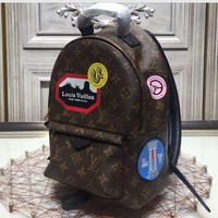 LV fashion new trend backpack shoulder bag student package for sale