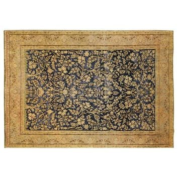 """Pre-owned Tree of Life Navy Blue Overdyed Rug - 8'5"""" x 12'1"""""""
