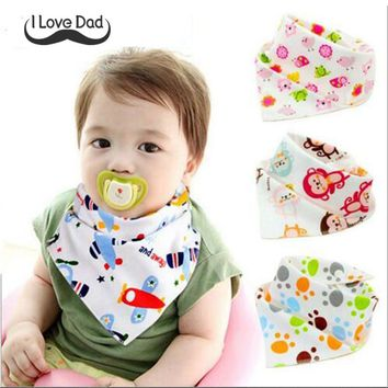 cotton baby bibs children double layers bibs baby feeding cloths animal print baby bandana dribble bibs for baby boys girls