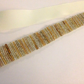 Mixed metal Gold and Silver handmade beaded by BlushingBridalShop