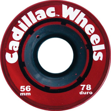 Cadillac 56mm Red Longboard Wheels