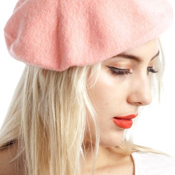 Lovefool Baby Pink Beret