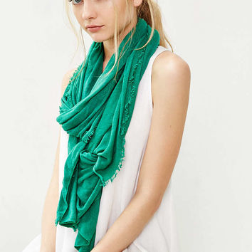 Raw-Edge Jersey Scarf - Urban Outfitters