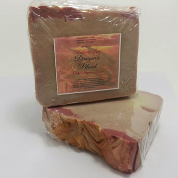 Dragons Blood Soap, Homemade Cold Process