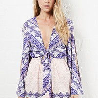 DailyLook: Somedays Lovin Outsiders Print Romper in Multi-colored XS - L