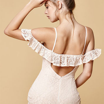 Selfie Leslie Flutter Off-The-Shoulder Dress at PacSun.com