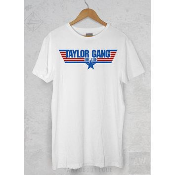 Wiz Khalifa Top Gun Taylor Gang Hip Hop Graphic Tee Unisex T Shirt